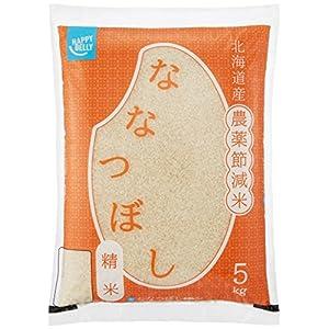 """【精米】[Amazonブランド]Happy Belly 北海道産 ななつぼし 5kg 農薬節減米 令和元年産"""""""