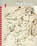 Notebook: Academic Male Nude Representing Hercules with Nessus's Robe (recto and verso), n.d., After Baccio...