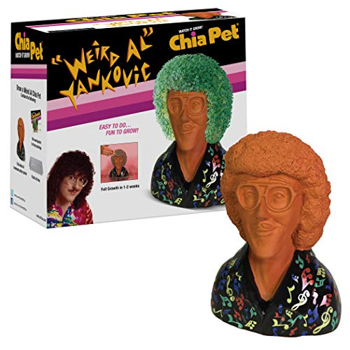 Chia Pet 'Weird Al' Yankovic with Seed Pack, Decorative Pottery Planter, Easy to Do and Fun to Grow, Novelty Gift, Perfect for Any Occasion