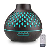 Essential Oil Diffuser, Remote Control Diffusers for Essential oils, Ultrasonic Humidifier, Aromatherapy Diffuser with Waterless Auto-Off (Coffee)