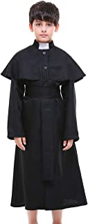 Kids Boys' Priest Costume Robe with Belt