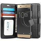 JundD Kompatibel für Xperia XA1 Ultra Leder Hülle, [Handytasche mit Standfuß] [Slim Fit] Stoßfest PU Leder Flip Handyhülle Tasche Hülle für Sony Xperia XA1 Ultra Hülle - [Nicht für Sony XA1 Plus/XA1]