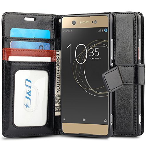 J&D Compatible pour Coque Xperia XA1 Ultra, [Stand de Portefeuille] Etui Portefeuille de Protection Antichoc avec Stand pour Sony Xperia XA1 Ultra Housse Cuir - [Pas pour Xperia XA1 Plus/Xperia XA1]