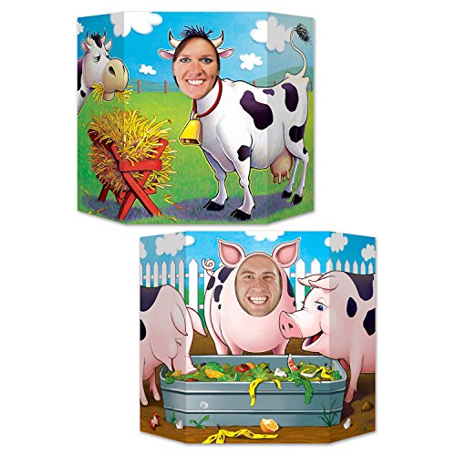 Beistle Barnyard Friends Farm Theme Photo Booth Prop – Western Birthday Party Supplies – Wall Backdrop  3-Feet 10-Inch by 25-Inch  Multicolor