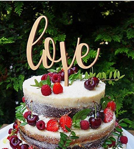 Wedding Cake Topper Love Cake Topper Simple Elegant Cake Topper Wedding Cake Decoration Amazon Co Uk Handmade