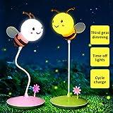 Starter Lámpara de escritorio táctil Hermosa patrón lindo de la abeja Ajuste...