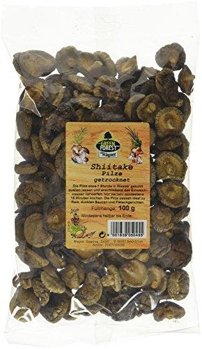 Wagner Green Forest Shiitake Pilze asiatische Speisepilze zum Kochen & Essen, getrocknet & natürlich, ideal für Reis und Suppen, Menge: 1 x 100 g