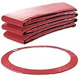 Arebos Trampolin Randabdeckung Federschutz | 183, 244, 305, 366, 396, 457 oder 487 cm | aus PVC und PE | Reißfest | 100% UV-beständig | Rot (rot, 305 cm)