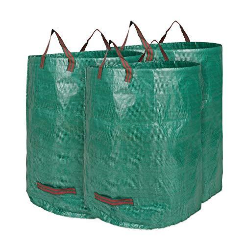 Edaygo Gartenabfallsack Laubsack Gartensack aus Polypropylen-Gewebe (PP), 300 Liter, 3 Stück