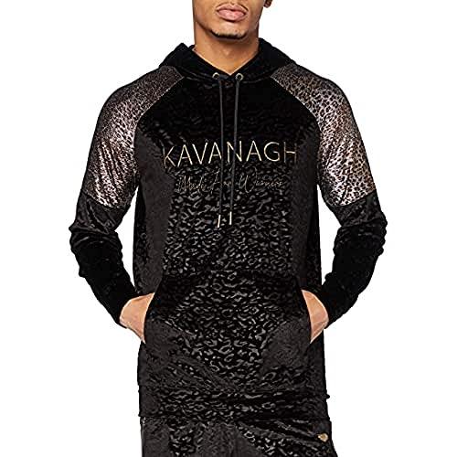 Gianni Kavanagh Black Savage Velvet Hoodie Sudadera con...