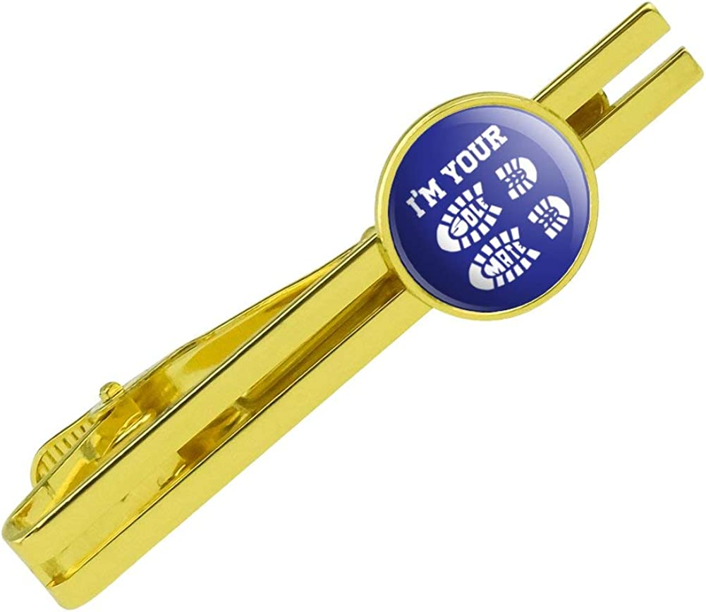 GRAPHICS & MORE I'm Your Soul Sole Mate Round Tie Bar Clip Clasp Tack Gold Color Plated