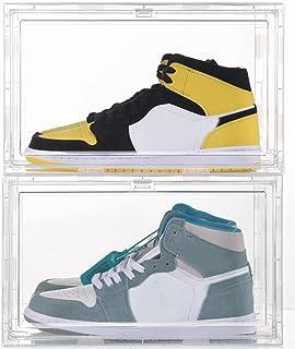 JINWEI Shoe Box, Boite Derangement Chaussures, Empilables Box, Boîte de Rangement Amovible à tiroir, Etagère à Chaussuresc...