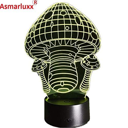 Pilz Lichtfarbe Nacht Glühbirne Licht Kinderspielzeug Nachtlichter Dekoration Geschenke