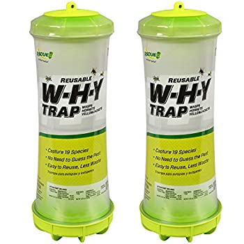 RESCUE! WHY Trap for Wasps Hornets & Yellowjackets – Hanging Outdoor Trap - 2 Traps
