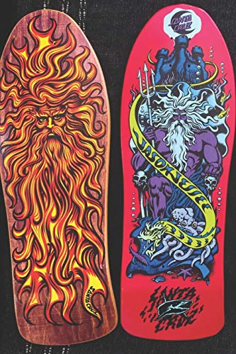 Jason Jesse Sun God & Neptune Skateboard decks: Daily Diary / journal / notebook to write in and record your thoughts. (Skateart)
