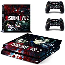 Homie Store PS4 Pro Skin - Ps4 Skins - Ps4 Slim Sticker - PS4 Skin Sticker for Playstation 4 Console and 2 Controllers PS4 Skin Sticker Vinyl Decal - Resident Evil 2 Remake