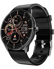 Duodo Smart Watch fitnesstracker met bloedzuurstof en hartslagmeter, bloeddruk, zuurstofmeldingen, berichten, tracking, fitnesshorloge voor dames en heren, compatibel met Android iOS