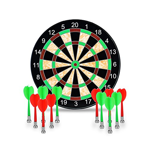 Towinle Dartboard, 17' Magnetic Dartboard with 12 Magnets...