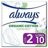Always Ultra Binden Damen Organic Cotton Gr. 2 (10 Damenbinden mit Flügeln) Sicherer Schutz Und Tragekomfort, Oberfläche 100% Bio-Baumwolle