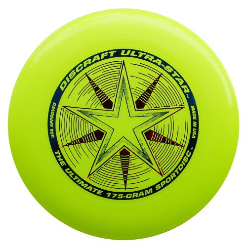 Discraft 175 gram Ultra Star Sport Disc, Fluorescent Yellow with Deluxe Packaging