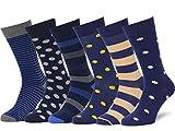 Easton Marlowe 6 PR Calcetines de Vestir Homber - 6pk #40 - estampados sutiles - 43-46 EU shoe size