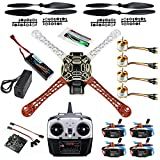 QWinOut DIY 2.4G 8CH KK V2.3 F450 Frame RC Quadcopter 4-Axle UFO Unassembly Kit