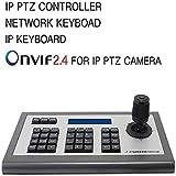 dxx Ip Keyboard 4D Ip Ptz Controller, Onvif Protocol Keyboard con pantalla de monitor LCD para cámara Ip Ptz Compatible Hikvision/Tvt/Uniview/Xm/Jovision