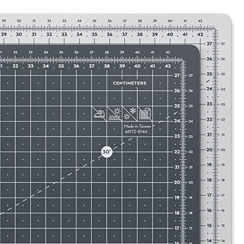 Arteza Base de corte autorreparable para cuchilla circular, Tamaño A3 45 x 30 cm (3 mm de grosor), Tabla para cortar manualidades y patchwork