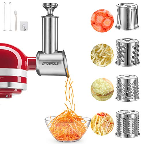 Stainless Steel Slicer Shredder Attachment for KitchenAid Mixer, Cheese Grater, Food Slicer for KitchenAid Mixer, Accessories for Kitchenaid