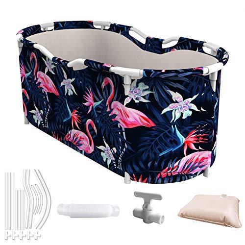 NEU Faltbare Badewanne für Erwachsene, tragbare SPA-Badewanne Dicker Kunststoff Frauen Kinder Kinder Familie Sauna Badeeimer für Dusche Badezimmer Indoor Outdoor Camping