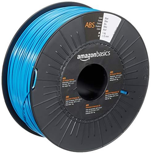 Amazon Basics - Filamento para impresora 3D, plástico ABS, 1,75 mm, cinta de 1 kg, azul
