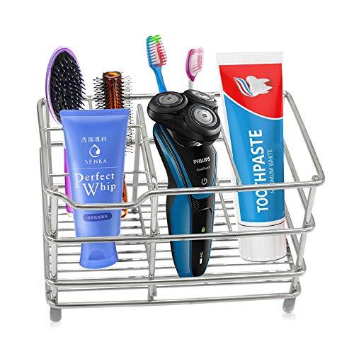 Elektrischer zahnbürstenhalter zahnpastahalterständer, ständer aus rostfreiem stahl für den badezimmerspeicher - multifunktionales 6-fach für große Zahnbürste, Zahnpasta, Reinigungsmittel, Kamm
