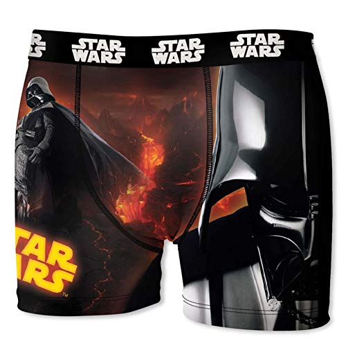Star Wars Herren Boxershorts, R2D2, Chewbacca, Darth Vader, T-Fighter, Druide BB8 (S/4/46, Darth Vader 1)