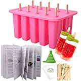 Homemade Popsicle Molds Shapes, Silicone Frozen Ice Popsicle Maker-BPA Free, with 50 Popsicle...