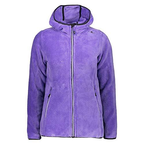 CMP – F.LLI Campagnolo Damen Highloft Fleecejacke mit Kapuze Fleece Jacket, Iris, D36