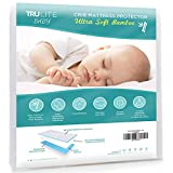 TRU Lite Bedding Waterproof Baby Crib Mattress Cover - Hypoallergenic Toddler Mattress Protector - Bamboo Rayon Fiber Quilted Terry Fitted Sheet - Protection from Dust Mites & Mold