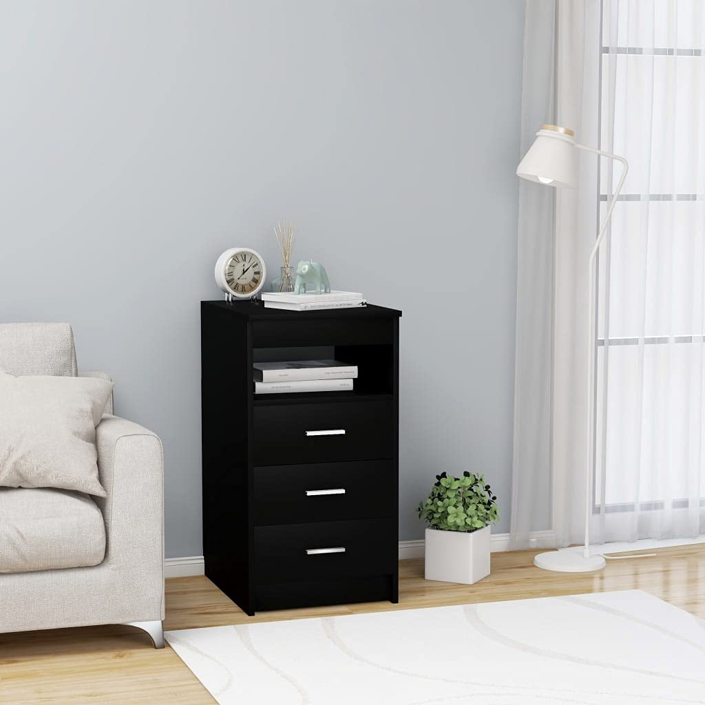 Drawer Cabinet Black 15.7inch 19.7inch inch Max Max 61% OFF 49% OFF 29.9 Stora Chipboard