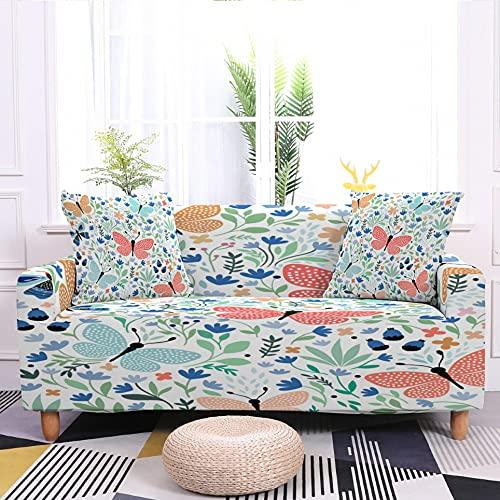 WXQY Funda de sofá con diseño de Mariposa Protector de sillón Funda de sofá con Todo Incluido Flexible Funda de sofá A10 3 plazas
