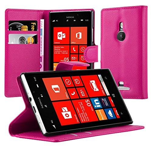 Cadorabo Custodia Libro per Nokia Lumia 925 in Rosa Vivo – con Vani di Carte, Funzione Stand e Chiusura Magnetica – Portafoglio Cover Case Wallet Book Etui Protezione