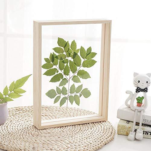 N\A Marco de fotos de madera de plexiglás de doble cara de 21,3 x 26,4 cm