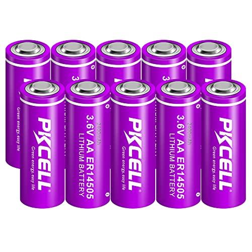 3.6V Lithium/SOCL2 Batteries AA Size Battery ER 14505 Non-Rechargeable Battery 10Pcs