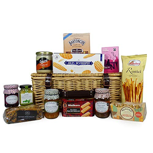 """Gourmet Food Hamper Presented in a Traditional Wicker Basket """"Festive Favourites"""" - Gift ideas for Mum, Mothers Day, Valentines, Birthday, Him, Her, Thank you, Business and Corporate"""