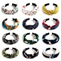 Kisslife 12 Pack Wide Headbands Knot Turban Headband Hair Band Elastic Plain Fashion Hair Accessories for Women and Girls, Children 12 Colors