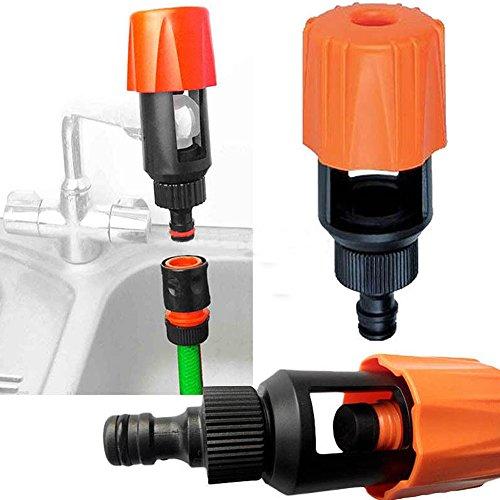 connecteur de tuyau d'arrosage pour robinet de cuisine, robinet universel adaptateur/adaptateur de tuyau Tuyau Raccord de robinet Flexible Tuyau Assemblage 4.5 x 2 x 2inch Voir imag2
