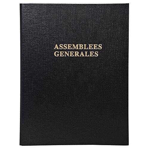 Exacompta 539E Carton de 10 Reliures à 4 Anneaux Délibérations Assemblée Générale
