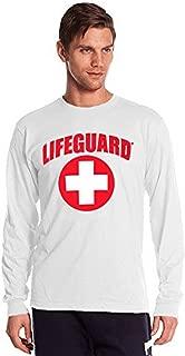 LIFEGUARD Long-Sleeve Printed Tee Shirt, Red T-Shirt for Men, Guys, Teen & Boys