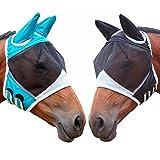 creatspaceDE 1Pcs 00080 Pferd Gesichtsmaske, atmungsaktiv Pferd Gesichtsmaske, Pferd Gesichtsmaske, Anti-Moskito-Pferdegesicht Farbe Maske: weiß L