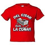 Camiseta niño del Eibar desde la cuna fútbol - Rojo, 5-6 años