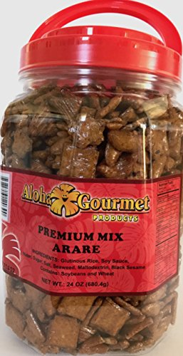Aloha Gourmet Hawaii Snack Mix (Premium Mix Arare Rice Crackers, 24 Ounce)