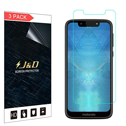 J&D Compatible para Motorola Moto G7 Play Protector de Pantalla, 3 Paquetes [NO Cobertura Completa] Película Transparente HD Protector de Pantalla - [No para Moto G7/G7 Plus/G7 Power/G7 Supra]